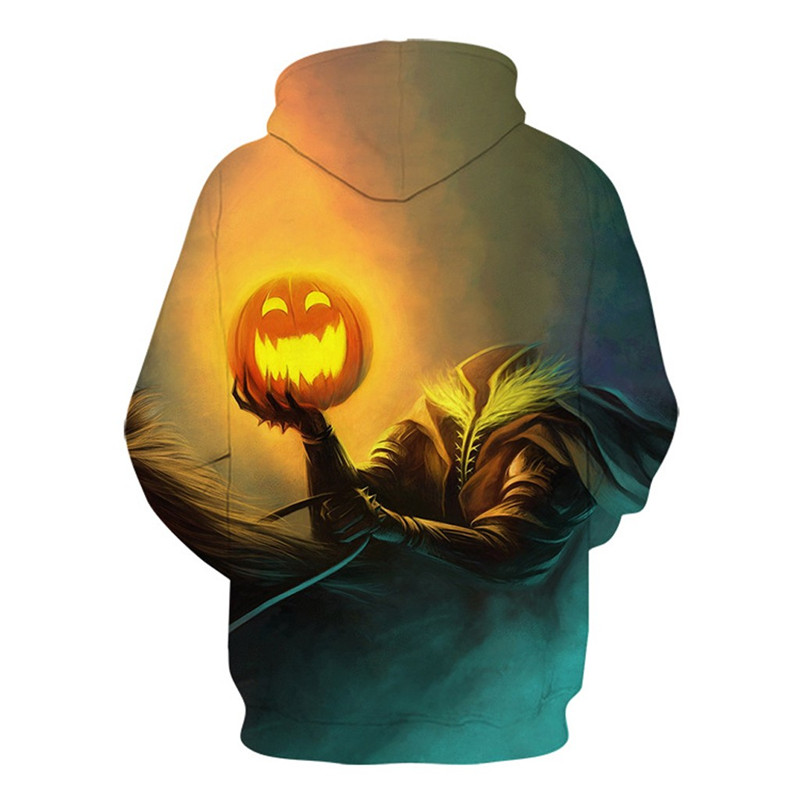 Mens Casual Scary Halloween Hoodie 3D Sweatshirt Autumn And Winter Festival hoody men long sleeves Plus Size Pullover 50Au75
