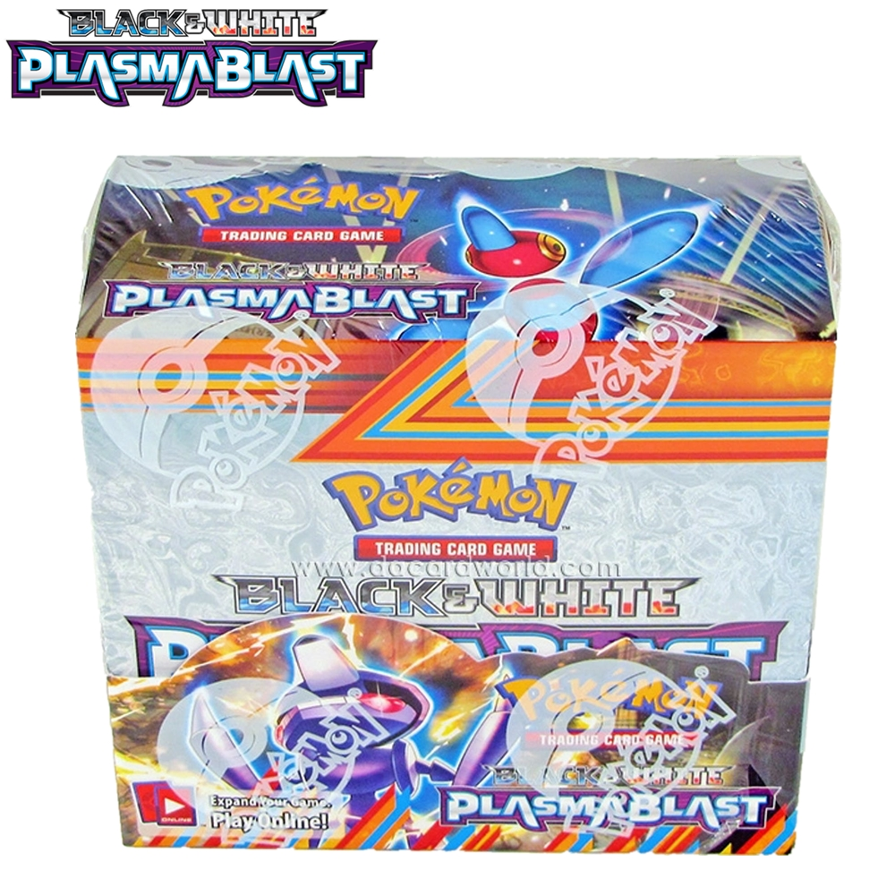 324Pcs Pokemon Cards Black & White Plasmablast 36 Packs Per Booster Box Battle Game Children Carte Toy
