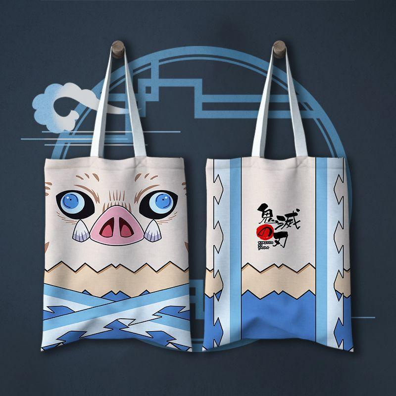 Japan Anime Comic Toilet-Bound Hanako-kun Demon Slayer: Kimetsu No Yaiba Animation Canvas Shoulder Bag Handbag