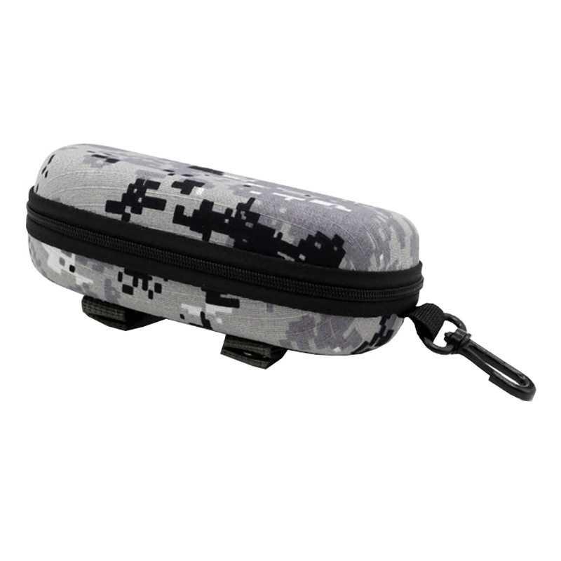 Camouflage tactique lunettes de soleil étui à lunettes EVA Portable lunettes de soleil boîte de rangement protecteur extérieur EDC accessoire sac avec crochet