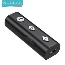 KUULAA Bluetooth 5.0 récepteur 3.5mm prise AUX Audio adaptateur sans fil Bluetooth Aux Audio transmetteur de musique pour casque de voiture