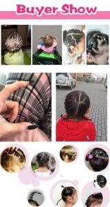 Image 2 - 200/1000PCS น่ารักเด็กผู้หญิงที่มีสีสันแหวนทิ้งผมยืดผมผู้ถือหางม้ายาง Band Scrunchies เด็กอุปกรณ์เสริมผม
