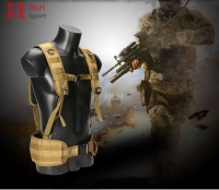 Adjustable Shoulder Belt Tactical Molle Vest Waist Support Waist Belt Padded Combat with H shaped Suspender