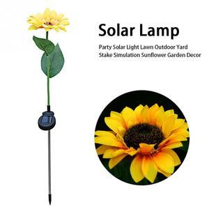 Image 5 - 人工太陽光発電日光ユリローズ花とひまわりガーデン led ライト装飾と最高の装飾 (赤)