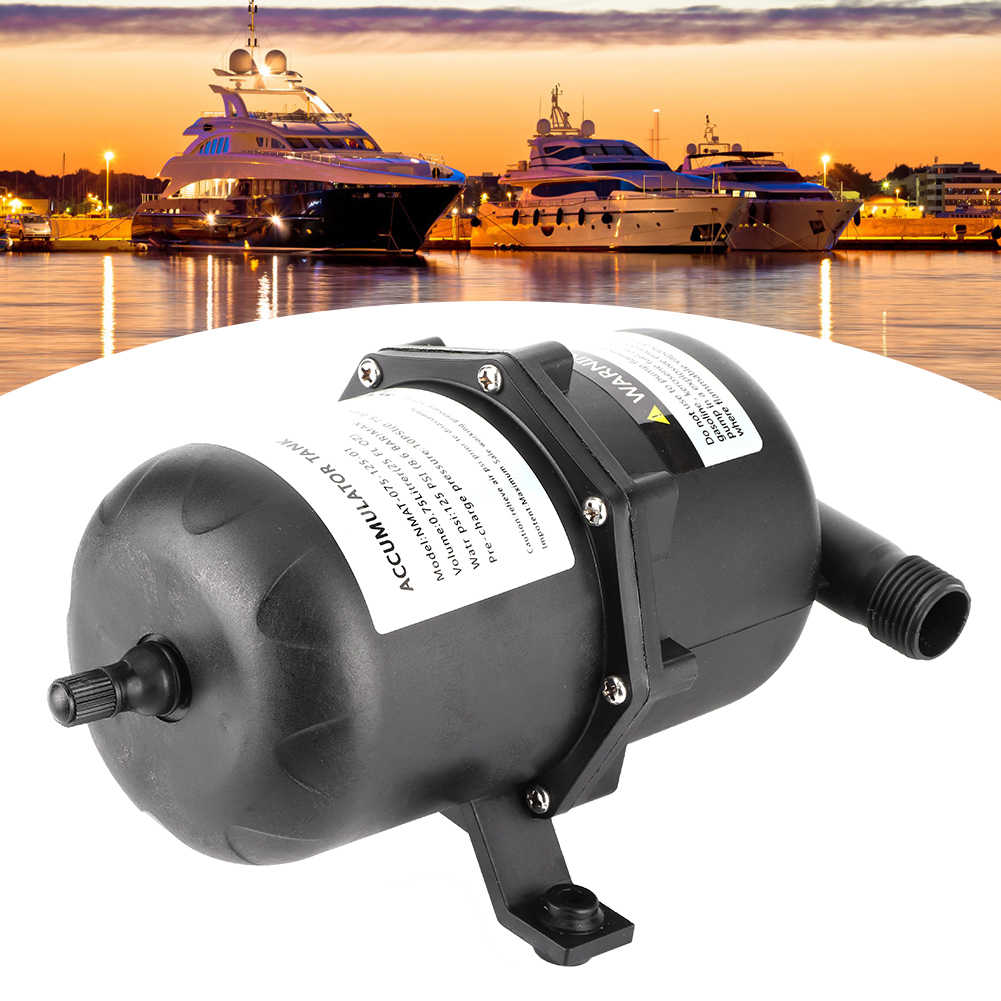 Marine RV Water Accumulator Tank Sailboat Water Pump Pressure Accumulator 0.75 L