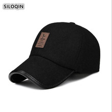 SILOQIN Mans Baseball Cap Snapback Winter Men Leisure Keep Warm Caps Adjustable Size Ear Protection Hat