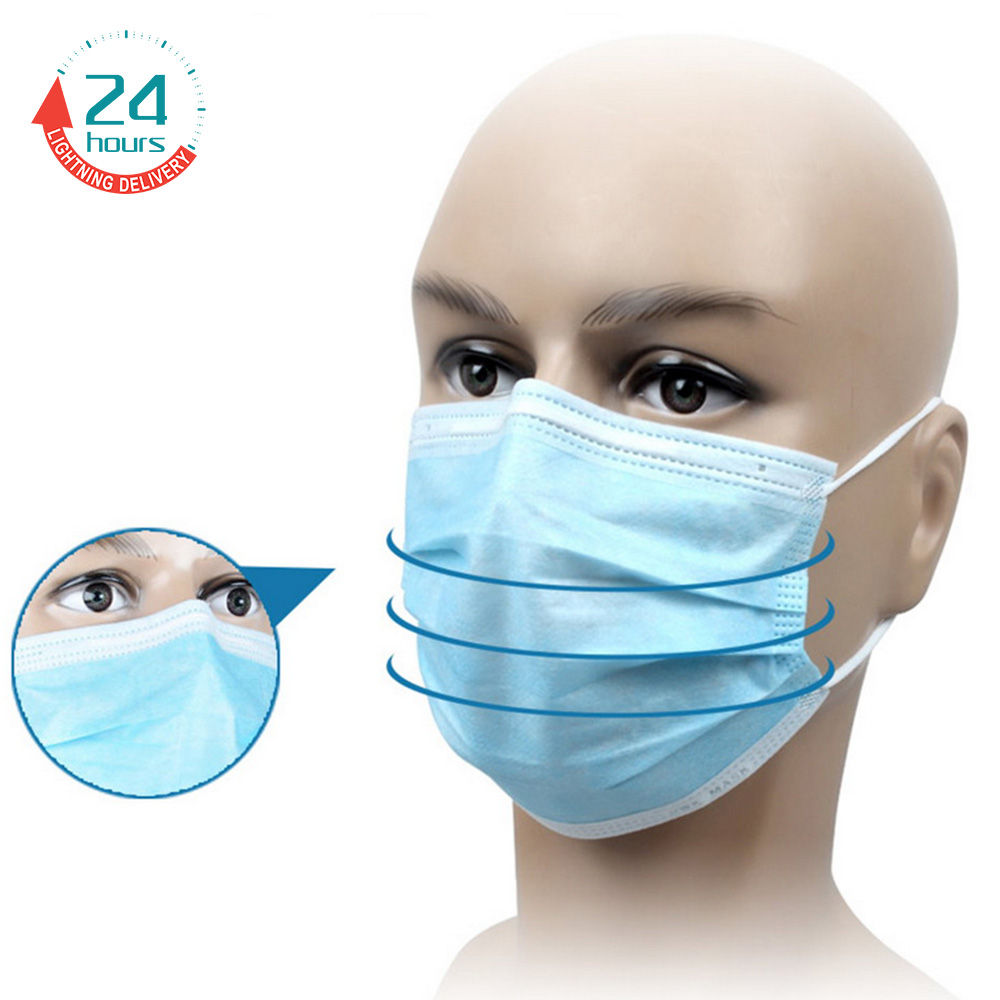 10 Pcs Wholesale Surgical Face Mouth Mask High Quality 3-Ply Anti Smoke Pollen Dust Anti-bacterial Facial Protective Cover Masks