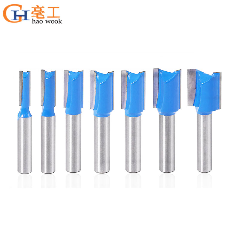 8mm Shank Straight/Dado Router Bit Set Diameter Woodworking Tools CNC Milling Cutter Endmill For Wood