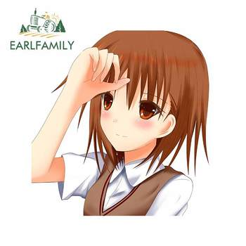 EARLFAMILY 13cm x 12.6cm For Misaka Mikoto Waterproof Fine Decal Repair Car Sticker Bumper Sunscreen Scratch-proof Decor image