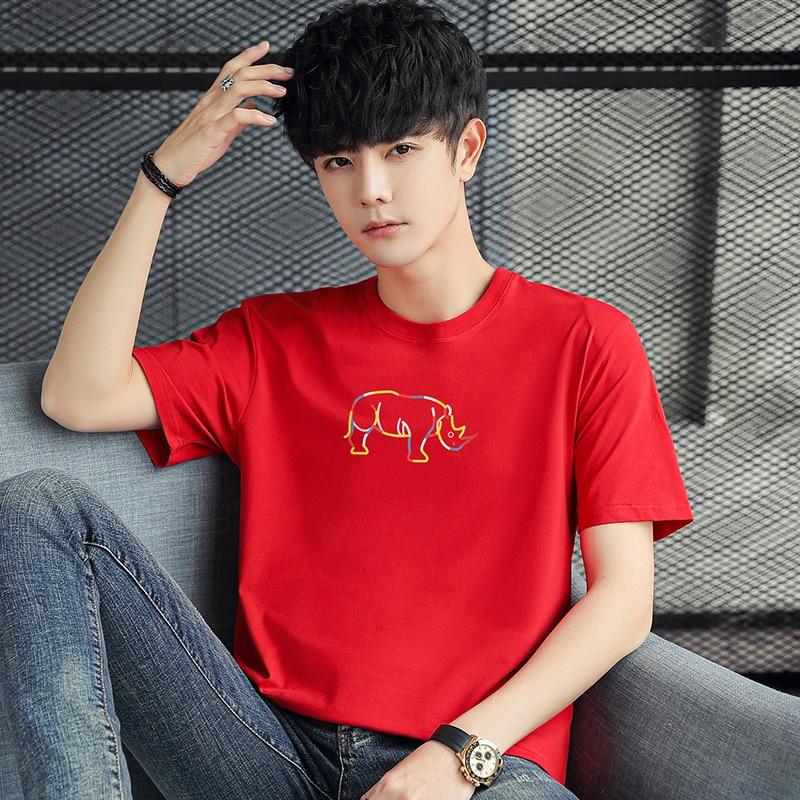 Men`s Short Sleeve T Shirt 2021 Summer Tops Tees Slim Fit T-Shirt Casual Summer Tshirt Camisetas Plus Size S-6XL Men Clothing