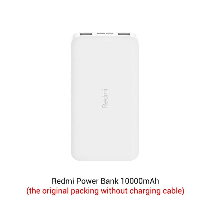Xiaomi Redmi 10000 мАч Внешний аккумулятор внешний аккумулятор Двойной USB вход выход Двусторонняя зарядка портативный для телефона - Цвет: official packing