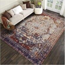 Alfombra de área para sala de estar, alfombra persa Vintage europea, alfombra turca para dormitorio, alfombra gris moderna para decoración de suelo para el hogar