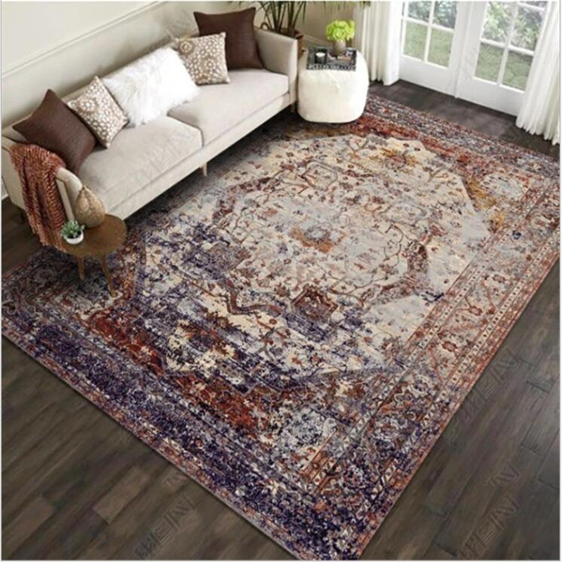 Vintage European Persian Carpet Turkish Carpet American Country Living Room Bedroom Bedside Carpet Bedroom Area Rugs For Living
