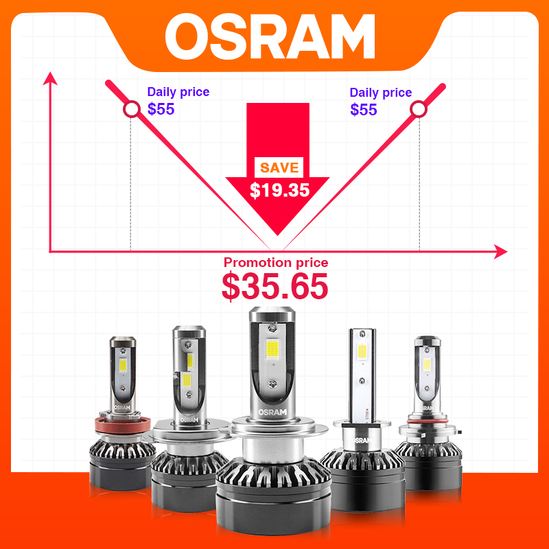 OSRAM Car Headlight H7 LED H1 H4 H11 Led Bulb HB3 HB4 HIR Led Car Light 12V 6000K For BMW Volkswagen Golf Honda Lexus Audi