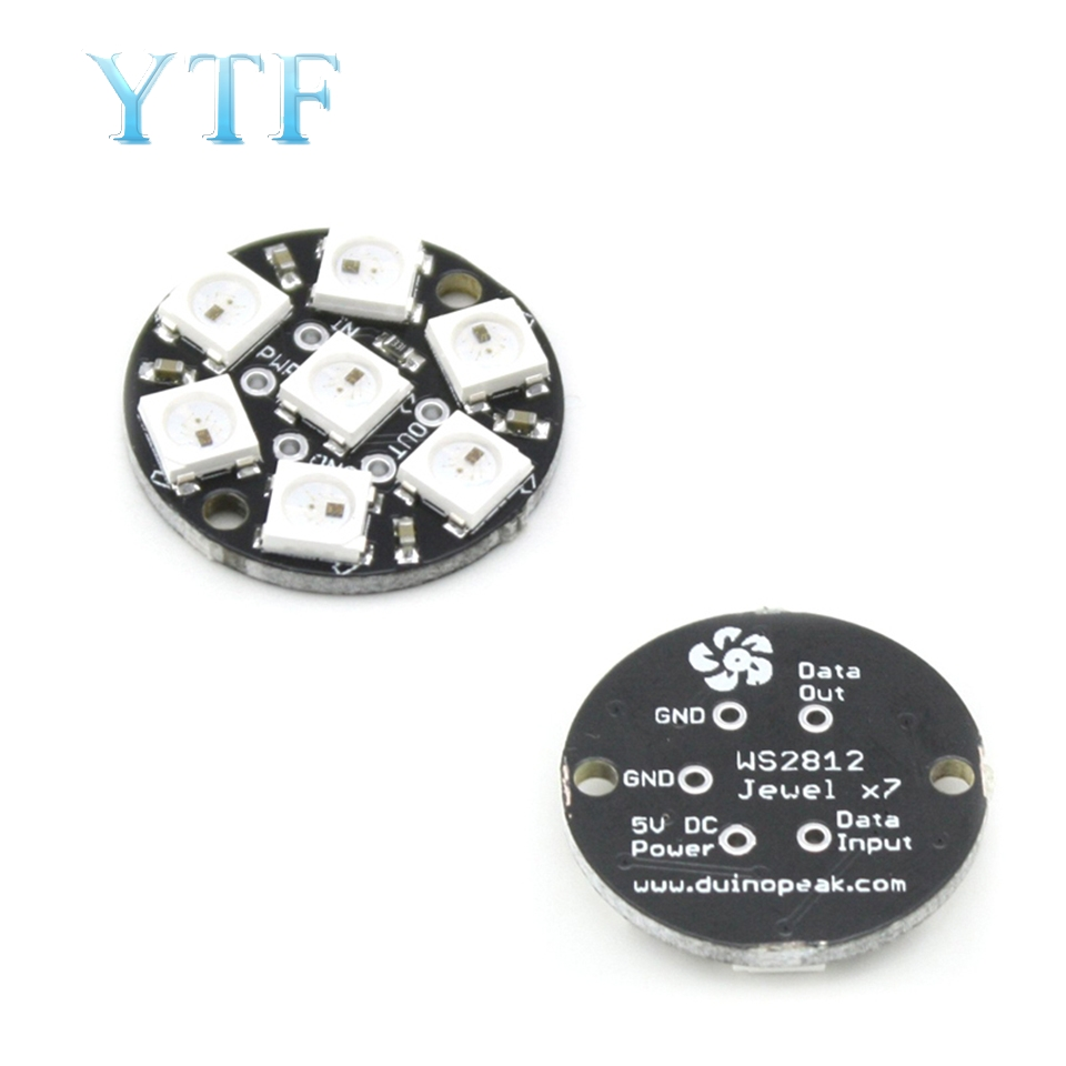 7 Bits 7 X WS2812 5050 RGB LED Ring Lamp Light With Integrated Drivers