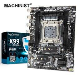 Makinist X99 masaüstü anakart LGA 2011-3 LGA2011-3 çift M.2 NVME yuvası desteği dört kanallı DDR4 ECC SATA3.0 USB3.0