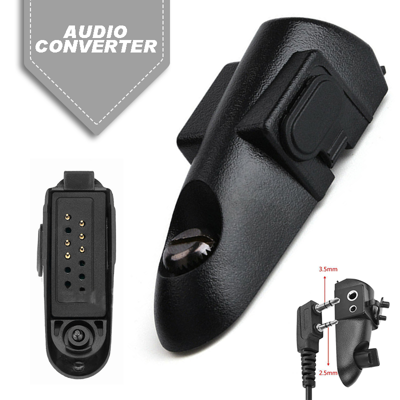 Walkie Talkie Adapter 2 Pin For Baofeng 9700 A58 UV9R Motorola GP HT MTX Walkie Talkie Parts Suitable For Standard Molded Plugs