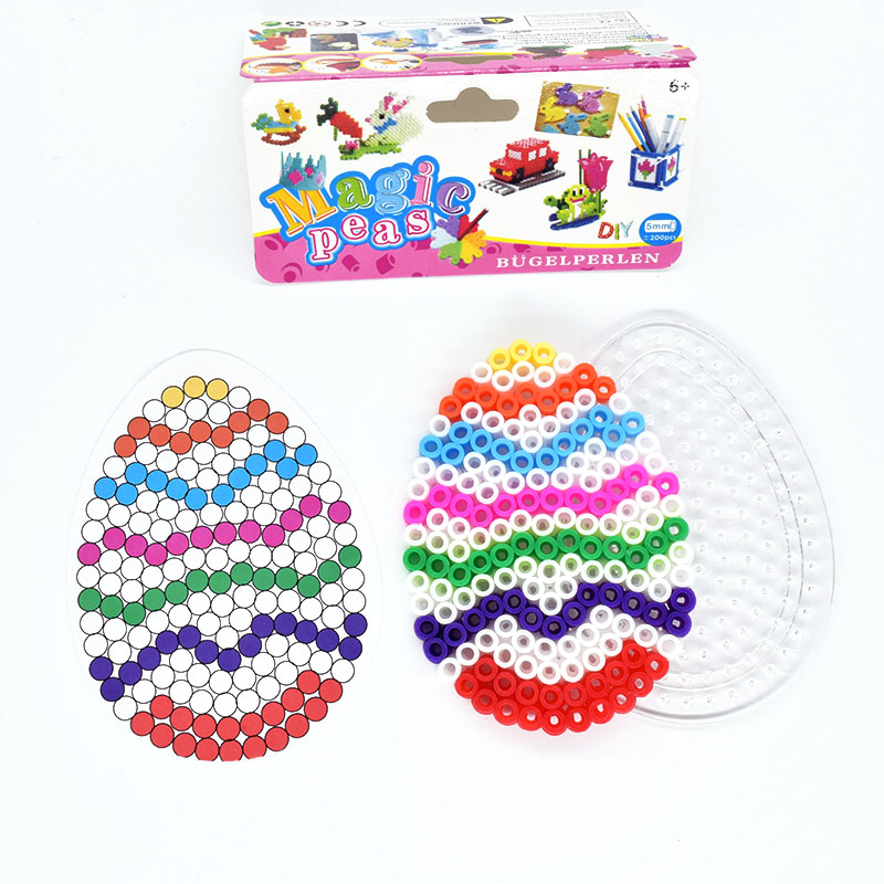 DIY Egg Mode Fuse  Beads 5mm Hama Beads  Puzzle  Children Toys  Kids Craft  Random Color Pattern