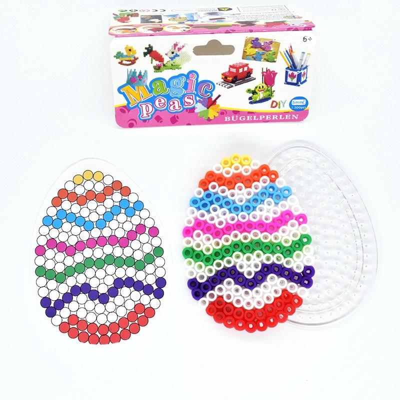 DIY Egg Mode Fuse  Beads 5mm Hama Beads  Puzzle  Children Toys  Kids Craft  Random Color Pattern