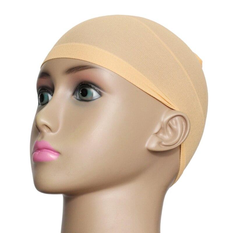 Nova quente 2 pçs/set unissex meia peruca forro boné de malha respirável estiramento de náilon hat smr88