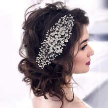 Mode Braut Hochzeit Zubehör 2020 Neueste Blume Haar Kämme Prom Braut Hochzeit Kopfschmuck accessoire mariage Headwear