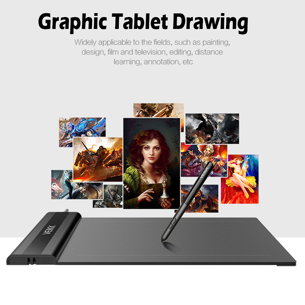 VEIKK S640 6 X 4 Inch 5080Lpi  Graphic Tablet Drawing Pad With Digital Pen