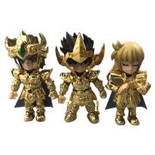 2 รูปแบบ 3/5 PCS/ชุดอะนิเมะ Saint Seiya อัศวินของ Zodiac Action FIGURE PVC Figurine สะสมคริสต์มาสของขวัญของเล่น