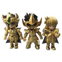 2 stili 3/5 pcs/set Anime Saint Seiya Cavalieri dello Zodiaco Action Figure PVC Figurine Da Collezione Modello Di Natale regalo del Giocattolo
