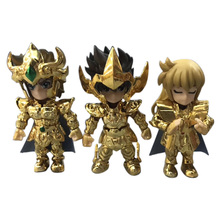 Figuras de acción de Saint Seiya, caballeros del zodiaco, 2 estilos, 3/5 Uds./set, modelo coleccionable de PVC, regalo de Navidad