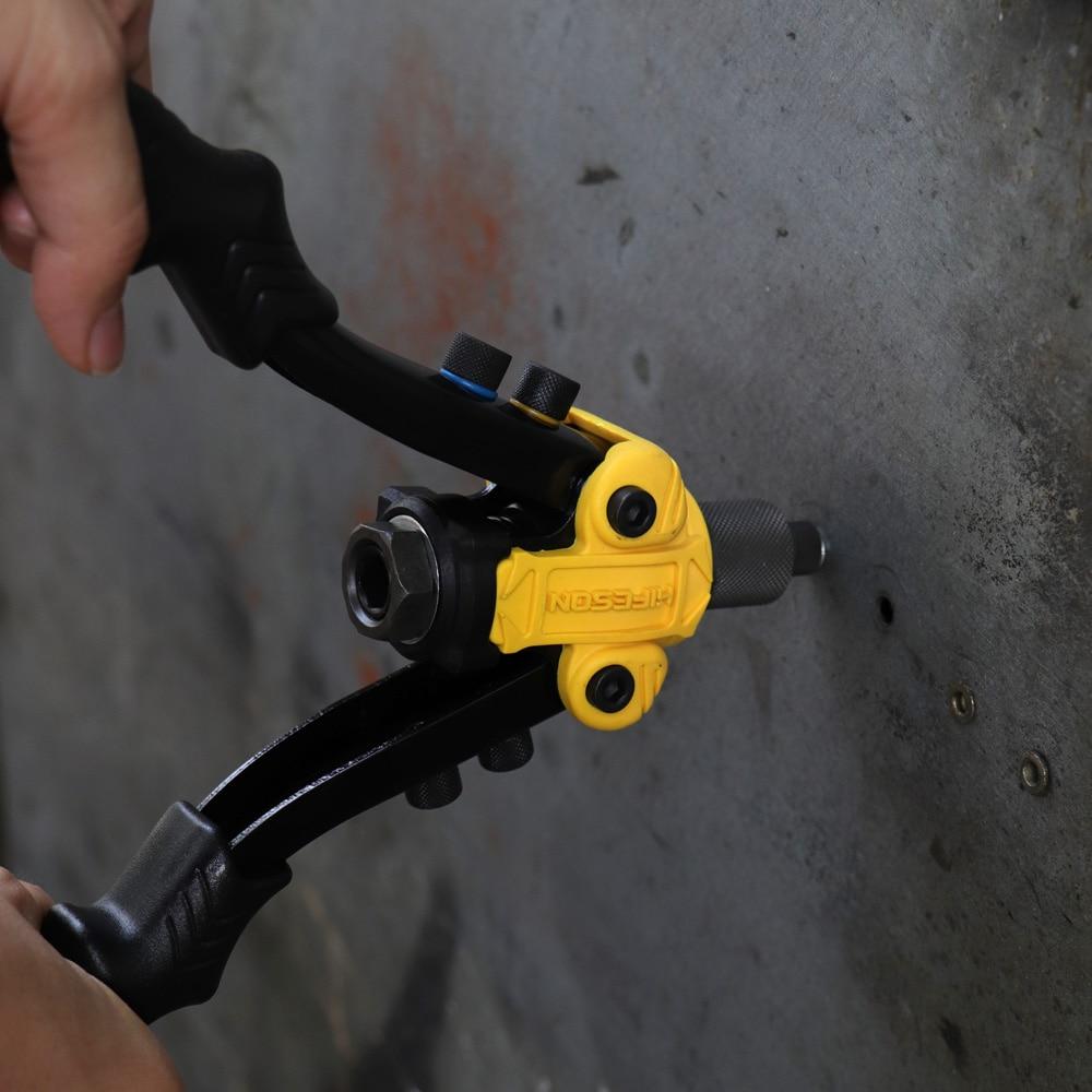 Image 5 - HIFESON Riveter Gun Hand Riveting Kit Nuts Nail Gun Household Repair Tools  Pull Willow Gun threaded rivet insertsRiveter Guns   -