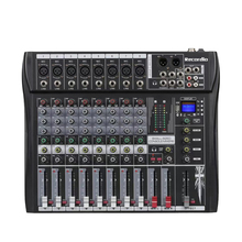 GAX-CT8 Professional 8-channel audio DJ mixer with Blueteeth sound mixer audio karaoke phantom power 48V USB jack