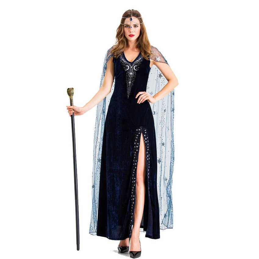 ハロウィン女性古代エジプトクレオパトラエキゾチックコスプレ衣装カーニバルセクシーなシャイニー分割ドレスステージ役割の服