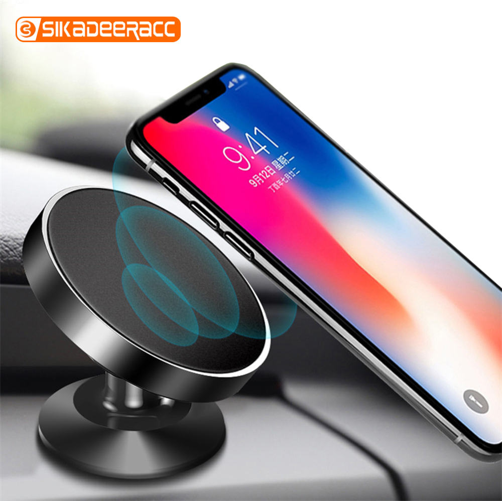 Magnetic Car Phone Holder For IPhone X XR Samsung S9 GPS 360 Degree Rotation Air Vent Grip Bracket Mount Mobile Universal Stand