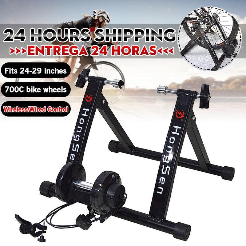 Ücretsiz kapalı egzersiz bisiklet eğitmeni 6 seviyeleri ev bisiklet eğitmeni MTB yol bisikleti bisiklet eğitim silindiri bisiklet rafı tutucu standı