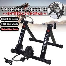 Entraîneur de vélo d'exercice intérieur gratuit 6 niveaux formateur de vélo à domicile vtt vélo de route vélo de formation rouleau de vélo support de support étagères