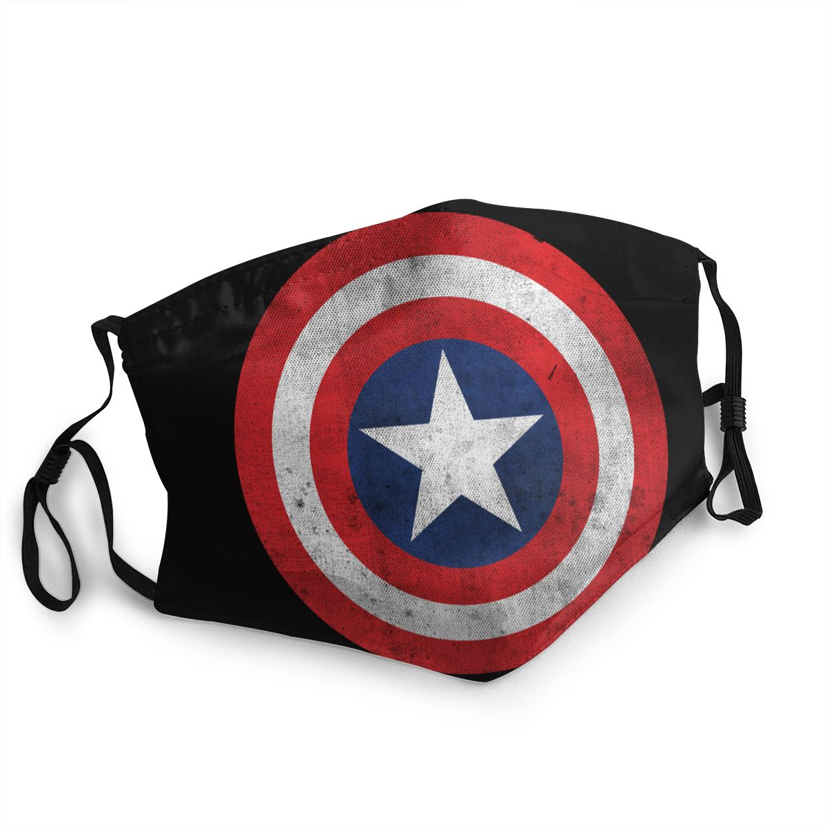 Captain America Shield Distressed Reusable Face Mask Anti Bacterial Dustproof Protection Cover Respirator