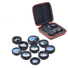 Multifunctional Filter Fisheye Wide-angle Macro-distance Suit For Phone Lens 15 Times micro-range Polarization Lenses #20(China)