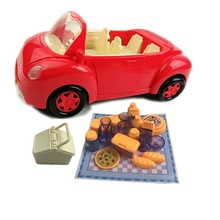 Game-Set Children's Car Toy Simulation Convertible Picnic Camping