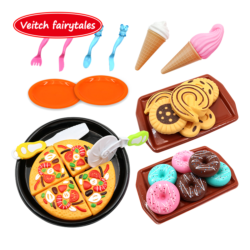 Veitch fairytales Children Learning Education <font><b>Toy</b></font> Pretend Play Food Cooking Game Cutting Fruit Vegetable <font><b>Kitchen</b></font> <font><b>Toy</b></font> <font><b>Set</b></font> image