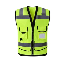 Reflective Vest With Pockets High Visibility Breathable Safety Gear Outdoor Construction Protector Tank Top цена