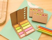 40pack/lot classic Kraft shell notes are easy to carry versatile Notepad memo sticky