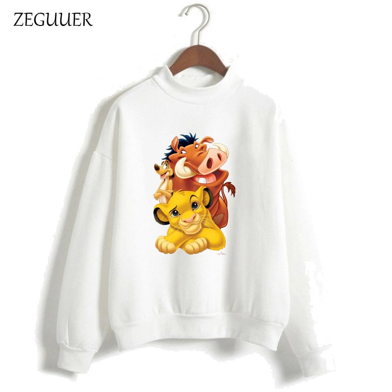 The Lion King HAKUNA MATATA Harajuku Streetwear Kawaii Print Hoodies Pink Hoodies Women Sweatshirt Clothes Hipster Women Hoodies