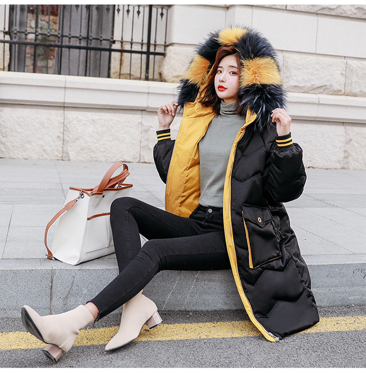 Down Jacket White Duck Down Coat Korean Puffer Jacket Raccoon Fur Collar Winter Coat Women Clothes 2020 523 YY1970