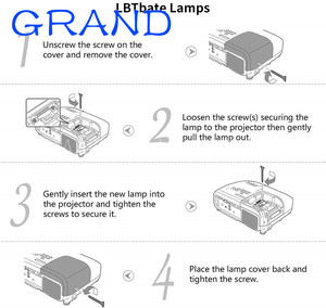 Image 4 - Replacement Projector Lamp RLC 079 RLC079 for Viewsonic PJD7820HD Bulb Lamp with housing P VIP210/0.8 E20.9N