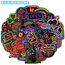 Toys Decals Stickers Guitar Suitcase Laptop-Phone Gifts Animal Neon Children Cute 50pcs