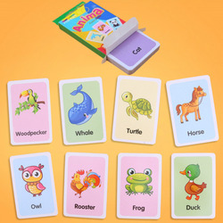 36Pcs Kids Cognition Card Shape Animal Color Teaching Baby English Learning Word Card Education Toys Montessori Materials Gift