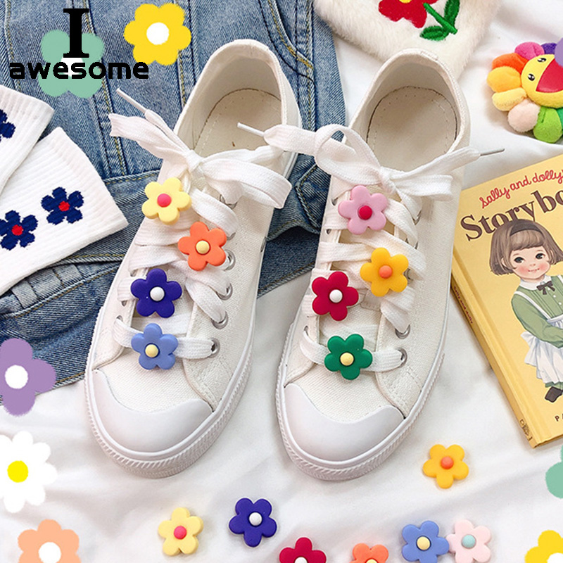 DIY Free To Match Plastic Flowers Shoe Decorations For Shoes Lace Shoes Accessories For Casual Shoes Canvas Flats For Sneakers