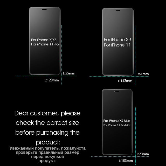 3PCS Protective Glass on the For iPhone 11 Pro X XR XS Max Tempered Screen Protector For iPhone 7 8 6 6s Plus 11 PRO Max Glass 6