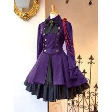 Новое модное женское платье в готическом стиле, винтажное готическое платье принцессы с квадратным воротником и бантом