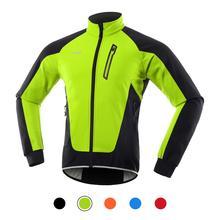 Зимняя мужская велосипедная куртка, водонепроницаемая ветрозащитная термальная флисовая велосипедная Джерси для горных велосипедов, езды...